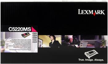 Lexmark 00c5220ms toner magenta, durata 3.000 pagine