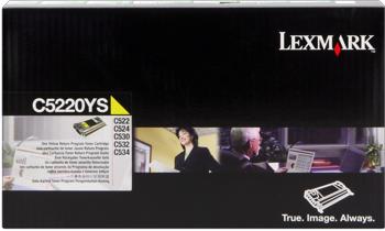 Lexmark 00c5220ys toner giallo, durata 3.000 pagine