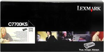 Lexmark 00c7700ks toner nero, durata 6.000 pagine