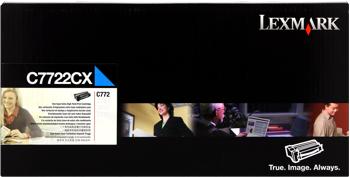 Lexmark 00c7722cx toner cyano 15.000p