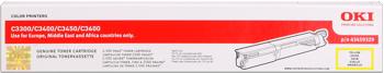 Oki 43459329 toner giallo, durata 2.500 pagine