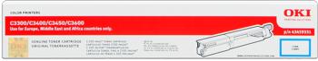 Oki 43459331 toner cyano, durata 2.500 pagine