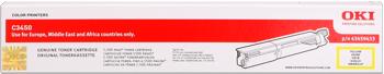 Oki 43459433 toner giallo, durata 1.500 pagine