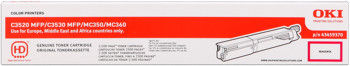 Oki 43459370 toner magenta, durata 2.500 pagine