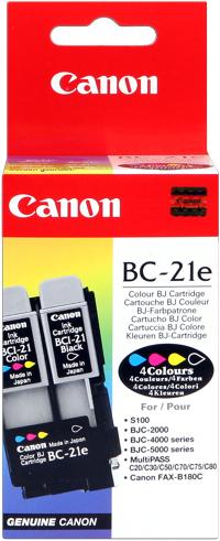 Canon bc-21e testina di stampa originale multicolor