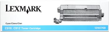 Lexmark 12n0768 toner cyano, durata 14.000 pagine