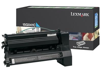Lexmark 15g041c toner cyano, durata 6.000 pagine