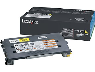 Lexmark c500h2yg toner giallo 3.000p
