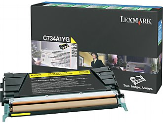 Lexmark c734a1yg toner giallo, durata 6.000 pagine