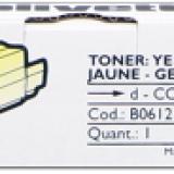 toner e cartucce - b0612 toner giallo, durata 2.000 pagine