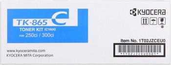 kyocera tk-865c toner cyano, durata 12.000 pagine