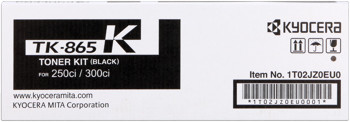 kyocera tk-865k toner nero, durata 20.000 pagine