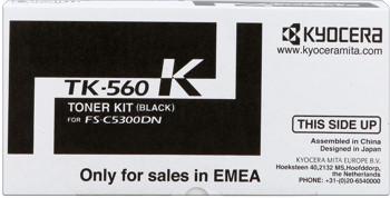 kyocera tk-560k toner nero, durata 12.000 pagine