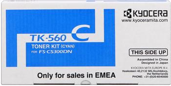 kyocera tk-560c toner cyano, durata 10.000 stampe