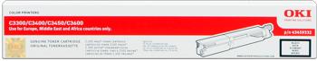 Oki 43459332 toner nero, durata 2.500 pagine