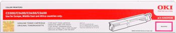 Oki 43459330 toner magenta, durata 2.500 pagine