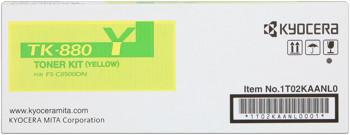kyocera tk-880y toner giallo, durata 18.000 pagine