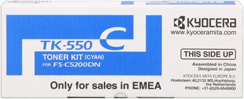 kyocera tk-550c toner cyano 6.000p