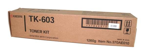 kyocera tk-603 toner originale nero, durata 30.000 pagine