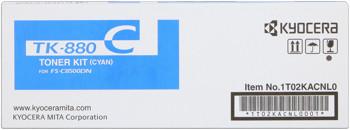 kyocera tk-880c toner cyano, durata  18.000 pagine
