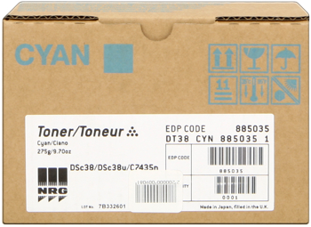 Nashuatec dt38c toner cyano, durata 10.000 pagine