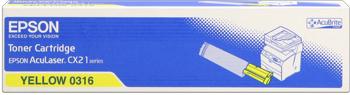 Epson s050316 toner giallo, durata indicata 5.000 pagine