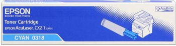 Epson s050318 toner cyano, durata indicata 5.000 pagine