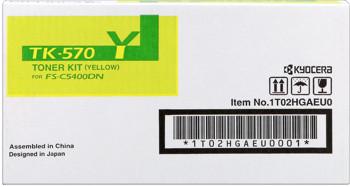 kyocera tk-570y toner giallo, durata 12.000 pagine