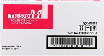 kyocera tk-570m toner magenta, durata 12.000 pagine