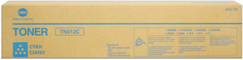 konica Minolta tn-312c toner cyano, durata 12.000 pagine