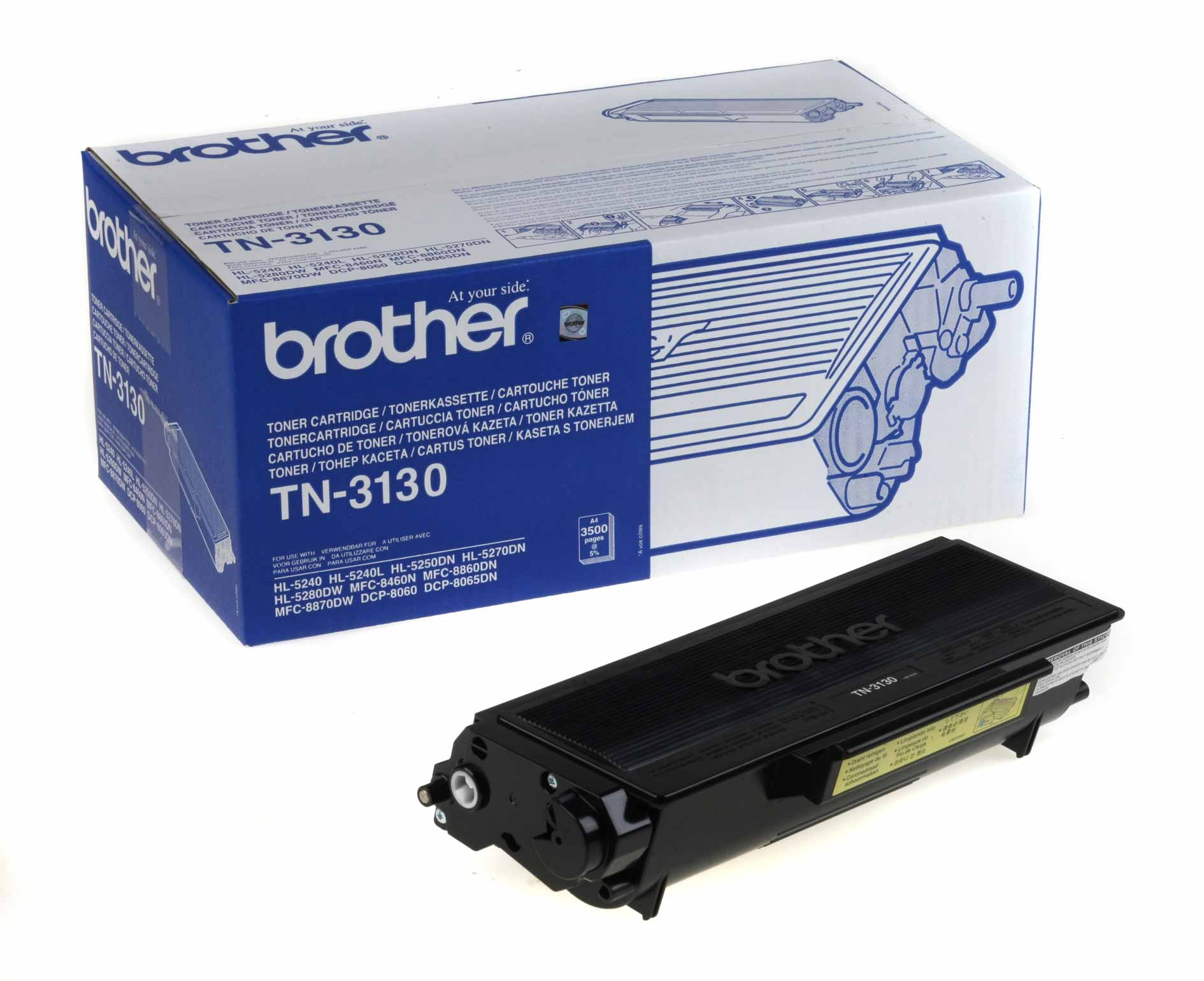 Brother tn-3130 toner originale nero, durata 3.500 pagine