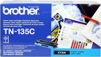 Brother tn-135c toner cyano, durata 4.000 pagine