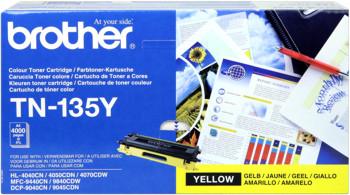 Brother tn-135y toner giallo, durata 4.000 pagine