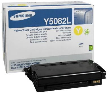 Samsung clt-y5082l toner giallo, durata 4.000 stampe
