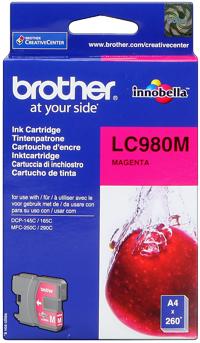 Brother lc-980m cartuccia magenta
