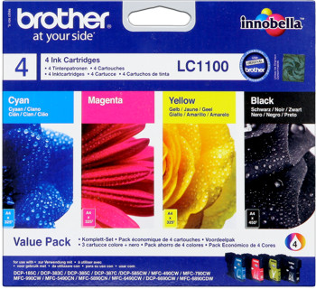 Brother lc-1100val Multipack bk-c-m-y