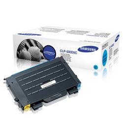 Samsung clp-500d5c toner cyano, durata 5.000 pagine