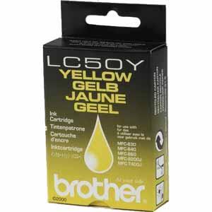 Brother lc-50y cartuccia giallo