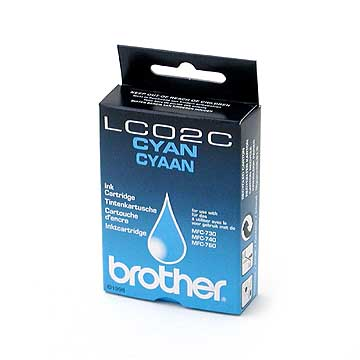 Brother lc-02c cartuccia cyano