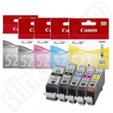 toner e cartucce - cli-521z multipack 3 colori , cyano-magenta-giallo, capacità 9 ml