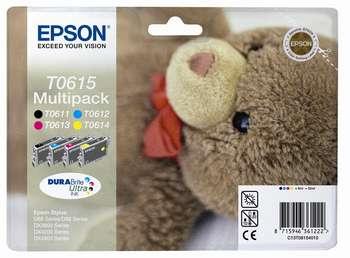 Epson t06154010 multipack4 colori: nero, cyano, magenta, giallo. T0611 + T0612 + T0613 + T0614