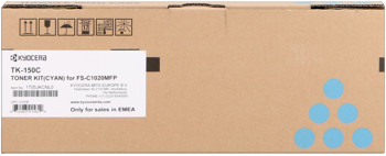 kyocera tk-150c toner cyano, durata 6.000 pagine