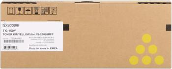kyocera tk-150y toner giallo, durata 6.000 pagine