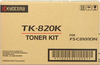 kyocera tk-820k toner nero