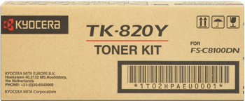 kyocera tk-820y toner giallo