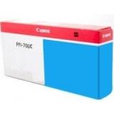 toner e cartucce - PFI-706C Cartuccia cyano, capacità inchiostro 700ml