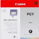 toner e cartucce - PFI-301pgy  Cartuccia grigio-photo, capacità 330ml