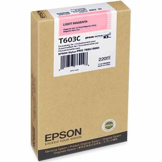Epson T603C00 Cartuccia magenta-chiaro, capacit� 220ml