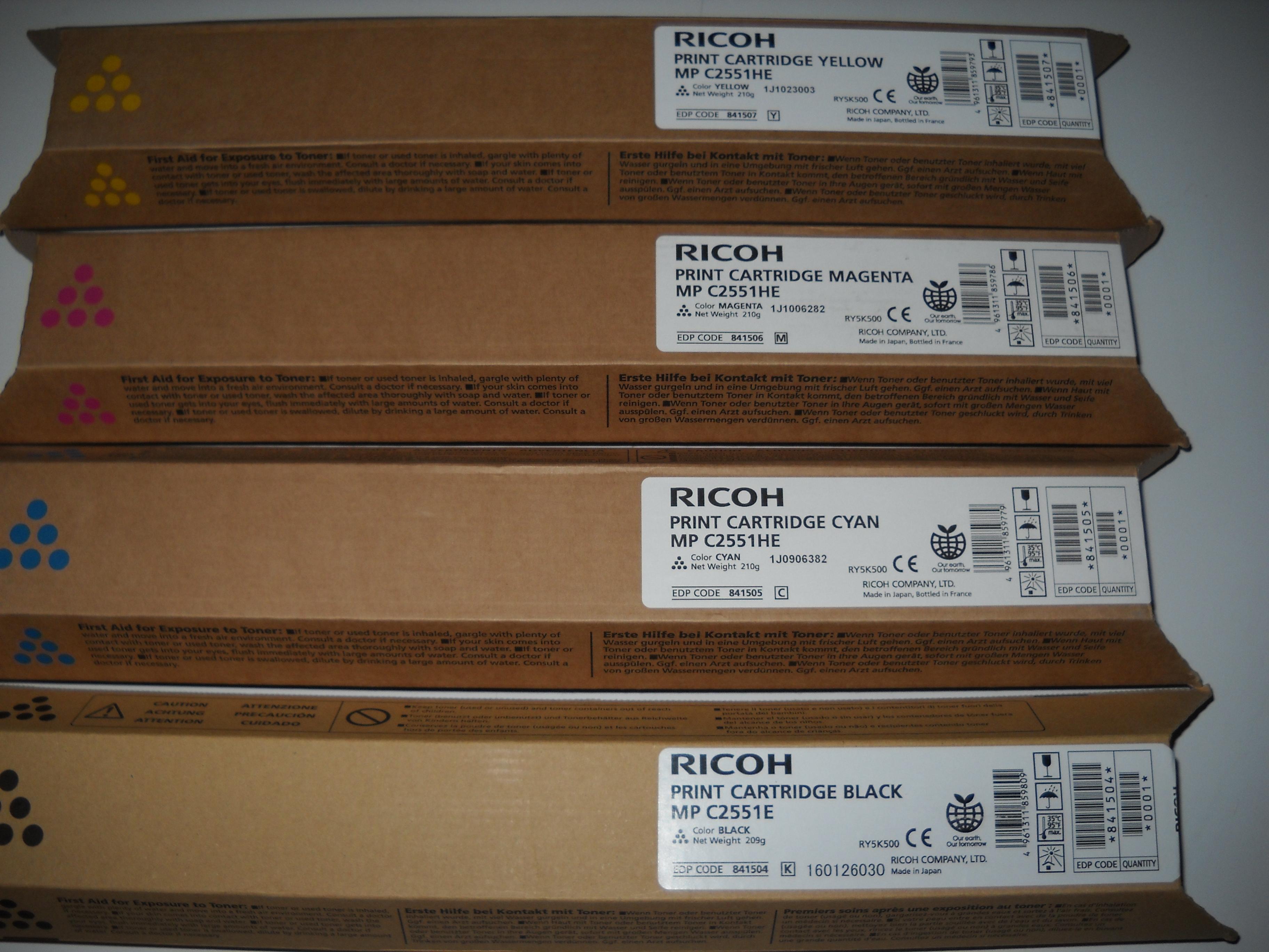 Lanier 841505 toner cyano, durata  9.500 pagine