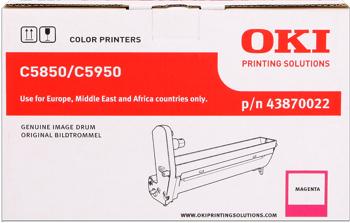 Oki 43870022 Tamburo di stampa magenta durata 20.000p